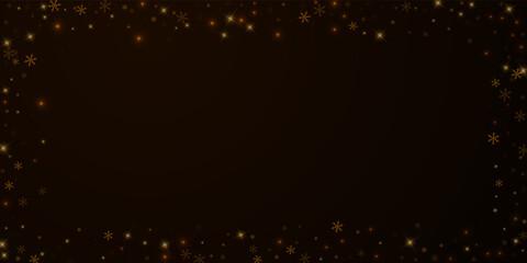 Fototapeta Sparse starry snow Christmas overlay. Christmas li obraz