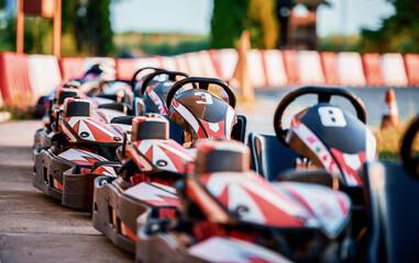 Obraz Go kart racing and motorsport - fototapety do salonu