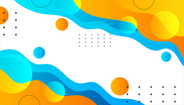 Modern abstract gradient colorfull background. trendy colorful gradient vector illustrations. Minimal geometric background. Dynamic memphis elips shapes composition.