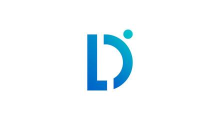 Fototapeta Business corporate letter L D logo design vector. Colorful letter LD logo vector template. Letter D logo for technology. obraz