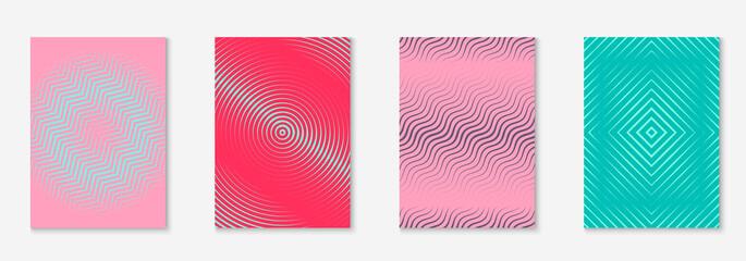 Obraz Minimalist trendy cover with line geometric elements and shapes. - fototapety do salonu