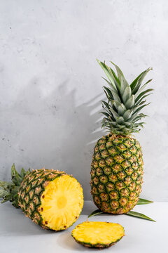 Fresh whole pineapples
