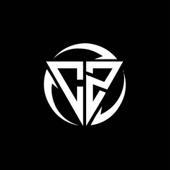 Fototapeta CZ logo monogram design template obraz