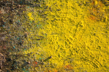 background of a floor with yellow powder