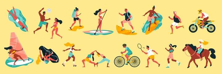 Obraz Summer Sport Color Set - fototapety do salonu