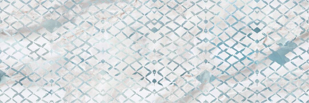 blue stripe pattern background on white onyx marble