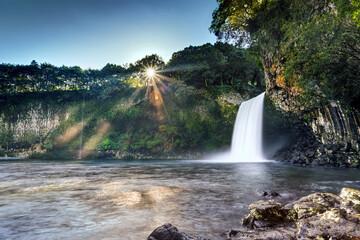 Obraz Cascade du bassin la Paix - Ile de La Réunion - fototapety do salonu