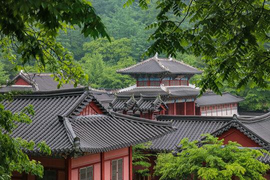 Korean traditional beautiful buildings