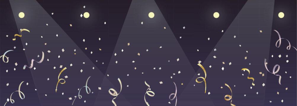 ライブ会場と紙吹雪の背景