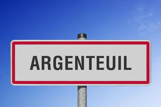Argenteuil, panneau, (symbolique)
