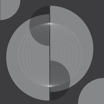 Halbkreise Ringe Kugel