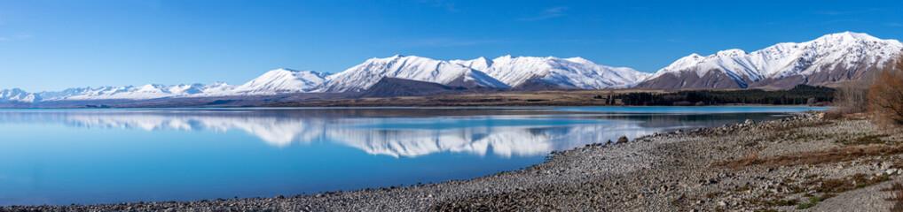 Obraz Lake Tekapo mountain landscape Panorama South Island New Zealand - fototapety do salonu