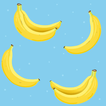 Pattern with bananas. Vector Illustration.