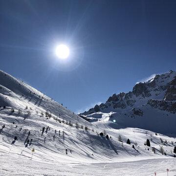 Petite descente en ski