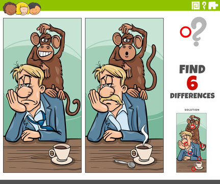 differences game with monkey on your back saying of proverb