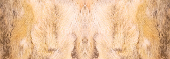Natural fur texture, luxury outerwear for women fashion