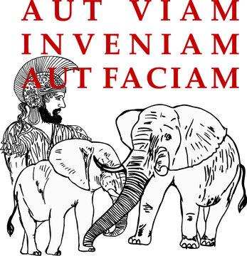 Hannibal Barca graphic design vector art
