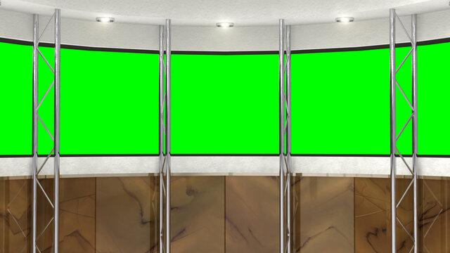 背景素材 スタジオセット 合成用 窓反射なし