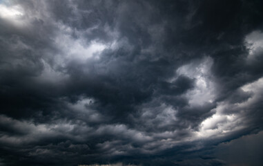 Fototapeta dark storm clouds with background,Dark clouds before a thunder-storm. obraz