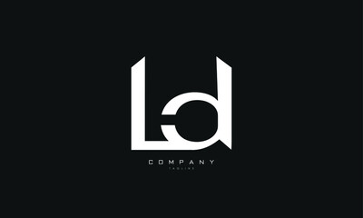 Fototapeta Alphabet letters Initials Monogram logo LD, DL, L and D obraz