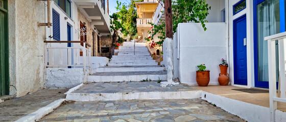 Uliczka greckiego miasteczka