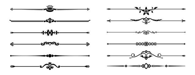 Fototapeta border and divider element vector collection obraz