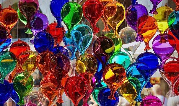 Globos de vidrio colores