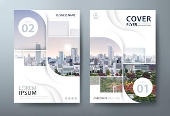 Fototapeta Annual report brochure flyer design template vector, Leaflet cover presentation, book cover. obraz