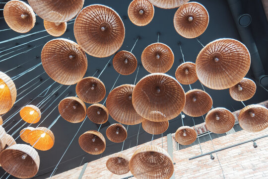 lamps and lampshades made of natural material