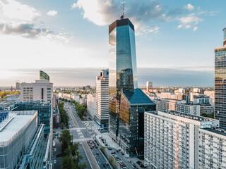 Fototapeta Warszawa Centrum - Widok na al. Jana Pawła II obraz