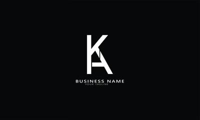 Obraz KA KH Abstract initial monogram letter alphabet logo design - fototapety do salonu