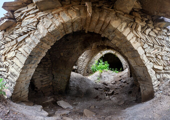 Fototapeta Aul - the ghost of Gra on the southern slope of the Samur ridge in Dagestan obraz