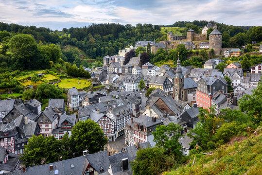 Historical Monschau town, Eifel region, Germany