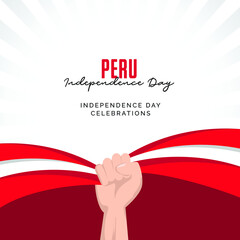 Obraz peru independence day. peru national day celebrations banners design template. - fototapety do salonu