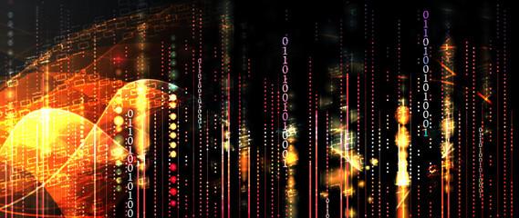 Fototapeta Technology data background, idea of global business solution obraz