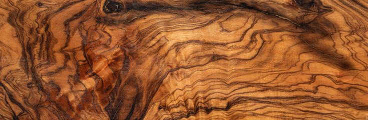 Fototapeta texture of dark brown olive wood plank. background of wooden surface obraz