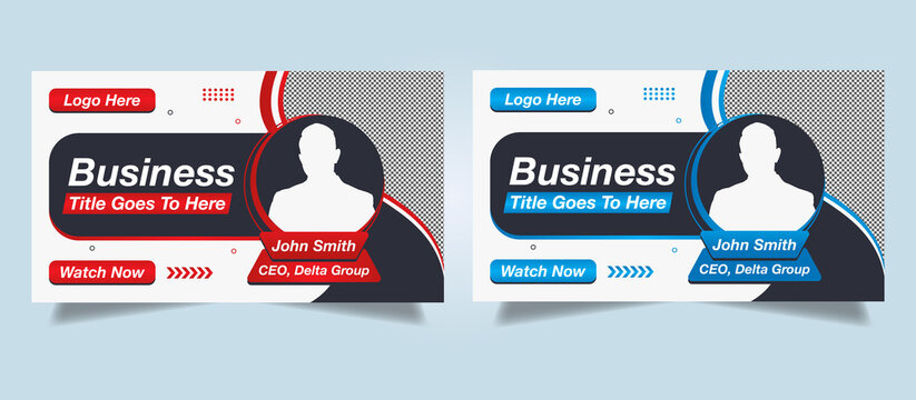 Editable Modern Creative Corporate business Abstract unique Professional Youtube thumbnail & video thumbnail template