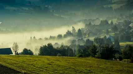 Fototapeta góry, mountains, krajobraz, sky, niebo obraz