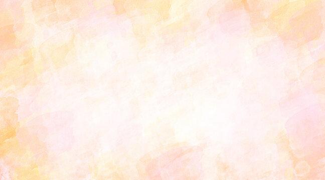 【高解像度350】ピンク色オレンジ色水彩画手描き筆跡テクスチャシンプル背景フリー素材春桜色
