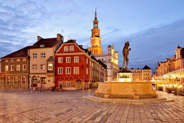 Obraz Market square, Poznan, Poland. - fototapety do salonu