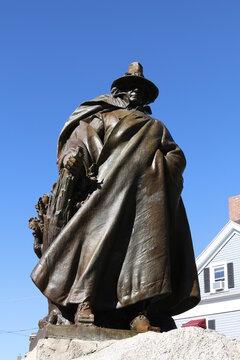 Statue of Roger Conant in Salem, Massachusetts