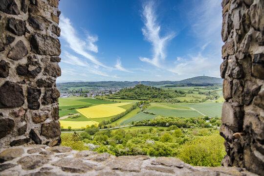 View to castle ruin vetzberg