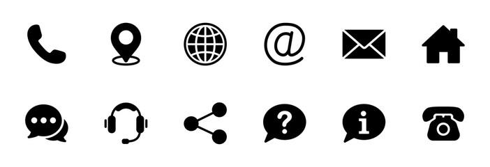 Fototapeta Contact us icon set. Web icon set. Website set icon vector obraz