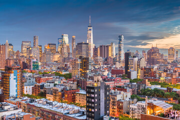 Obraz Lower Manhattan New York City - fototapety do salonu