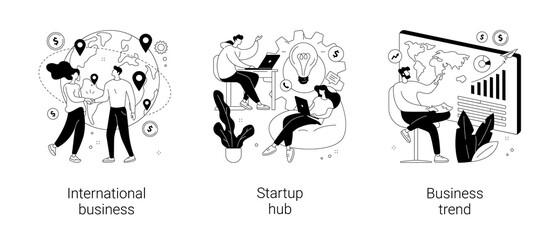 Obraz Business idea abstract concept vector illustrations. - fototapety do salonu