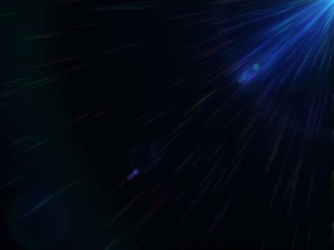頭上に光るレンズフレア風のエフェクト