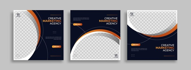 Fototapeta Creative Business marketing social media post template obraz