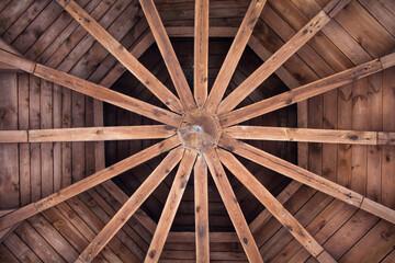 Fototapeta drewniany dach obraz