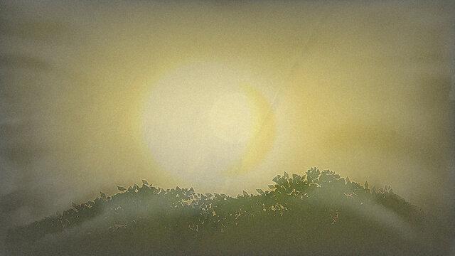Asahi in the mountains where the fog can enter
