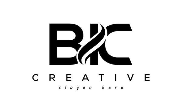 Letter BIC creative logo design vector